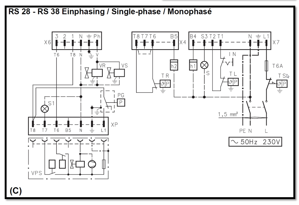 gaz schema moteur monophase fonctionnement