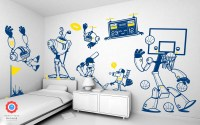 Robot Wall Stickers for Children Boys Bedroom Wall Decor