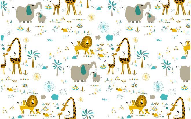 Cute Trendy Wallpapers Jungle Animals Wallpaper Nursery Wall Murals