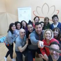 Participantes en II Sesion Yoga 05-02-2016
