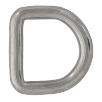 """1/4"""" x 1"""" Stainless Steel D Ring"""