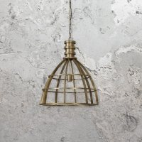 Industrial Bronze Cage Pendant Light | E2 Contract ...