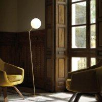 Modern Brass Floor Lamp CL-33985 | E2 Contract Lighting | UK
