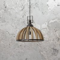 Wooden Metal Cage Pendant Light CL-34544 | E2 Contract ...