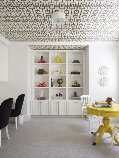 Eades Discount Wallpaper & Fabric | Blog » Blog Archive » Wallpapering a Ceiling