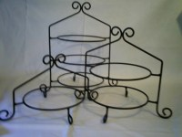 Black Iron Pie Plate Holder Rack 1Tier Stand USA | eBay