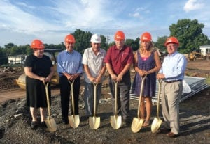 Picture from left to right are: Manlius Trustee Nancy Pfeiffer; Manlius Town Supervisor Ed Theobald; Manlius Mayor Paul Whorrall; Manlius Trustee Scott McGrew; Manlius Village Clerk Martha Dygert; and New York State Senator John DeFrancisco. (Hayleigh Gowans)
