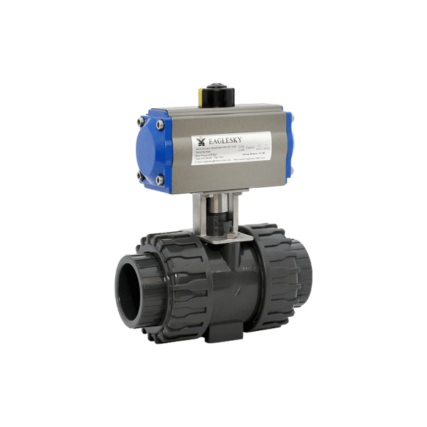 rotary-automatic-pneumatic-actuator-plastic-double-union-ball-valve