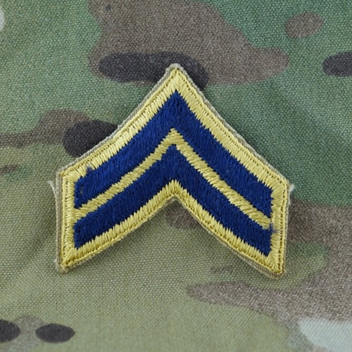 Eagles of War - Rank, E4 Corporal (CPL), Chevron, U S Army Combat