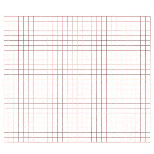Graph Paper Red 3 Grid XY Coordinate - Pack of 500 - Math