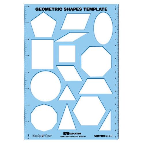 Geometric Shapes Template (Manip-U-View) - Common Core State