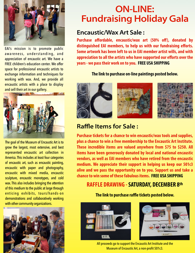 2018 FUNDRAISING HOLIDAY GALA \u2013 Raffle Items Encaustic Art Institute