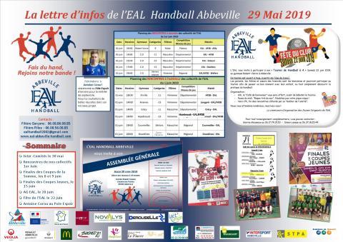 La Lettre d'infos EAL Handball Abbeville _29 mai 2019