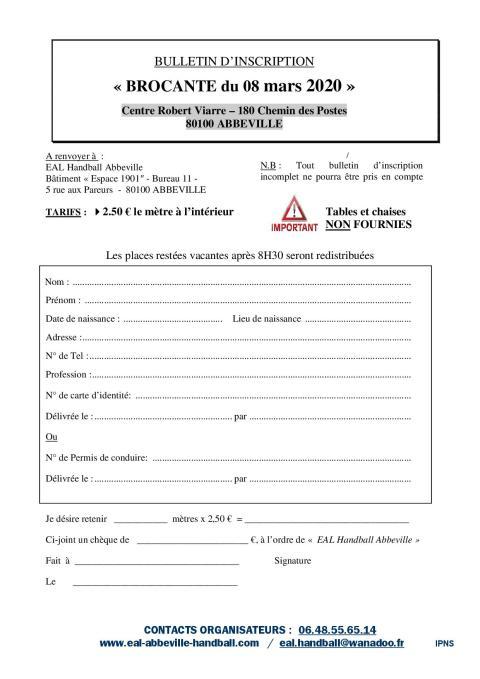 Bulletin d-inscription Brocante 2020_A4