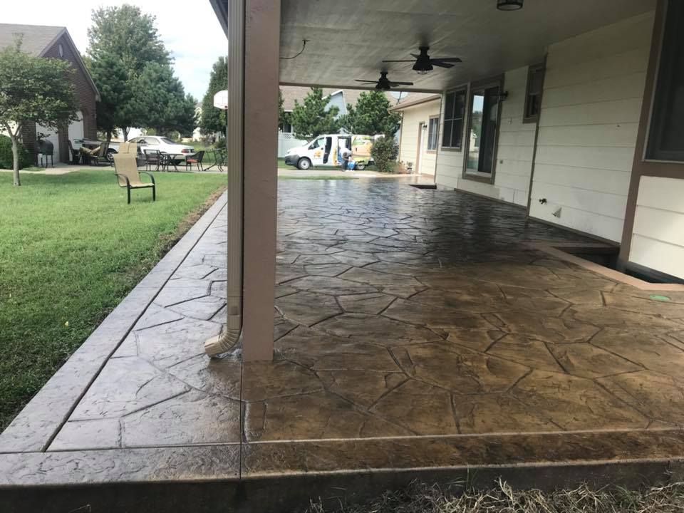 Patio Restoration Before And After E J Concrete And
