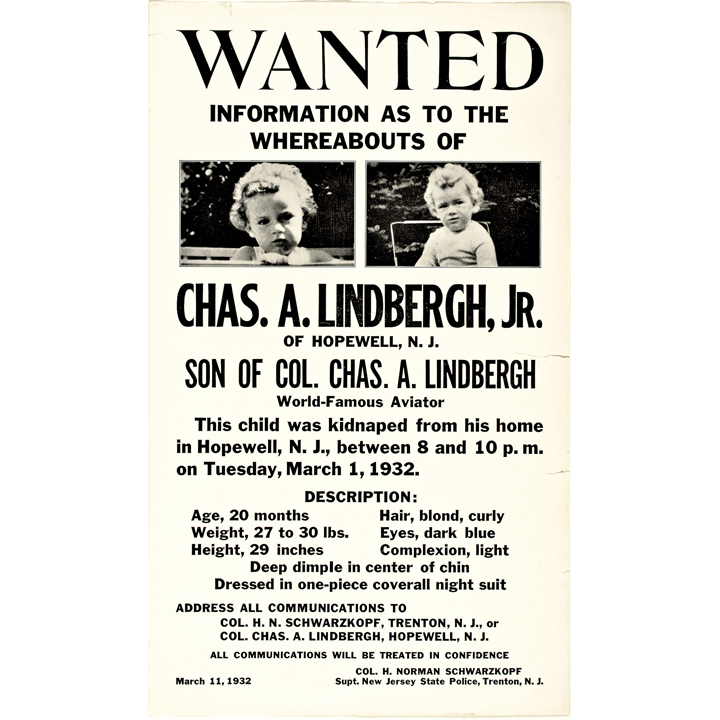 1932 Exceptional Pair of Baby Charles A Lindbergh Jr Wanted