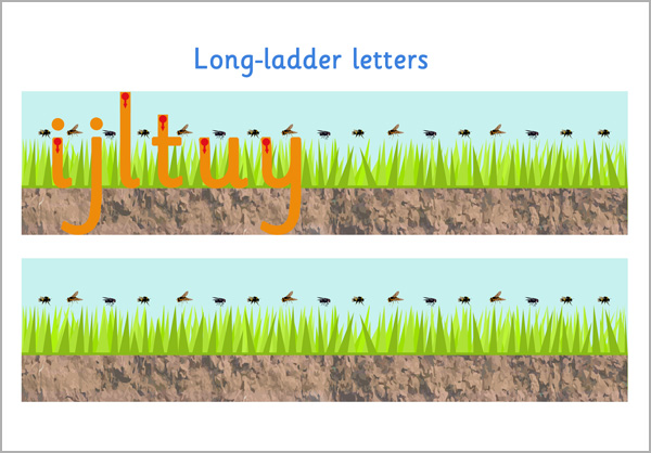 Long Ladder Letter Formation Free Early Years  Primary Teaching