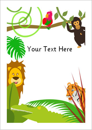 Animal Print Wallpaper Uk Jungle Notepaper Eyfs Ks1 Free Early Years Amp Primary