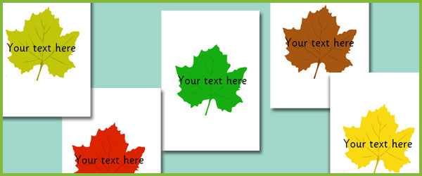 Leaves - Editable Text Free Early Years  Primary Teaching