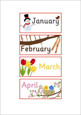 Printable Calendar Ks1 Weather Seasons Classroom Calendar Display Resources Ks1 Eyfs Ks1 Months Of The Year Labels Free Early Years