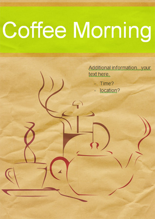 Editable Coffee Morning Poster Free Early Years  Primary Teaching - editable poster templates