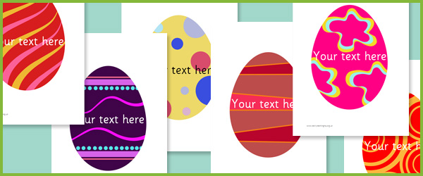 Editable Easter Egg Pictures Free Early Years  Primary Teaching