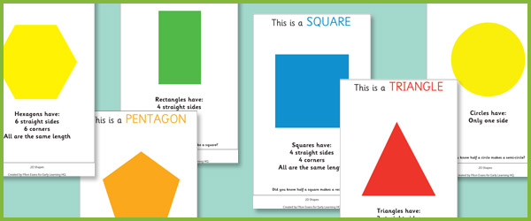 2D Shape Info Posters (eyfs maths resources) Free Early Years