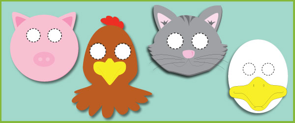 Little Red Hen role-play masks (free story resources) Free Early