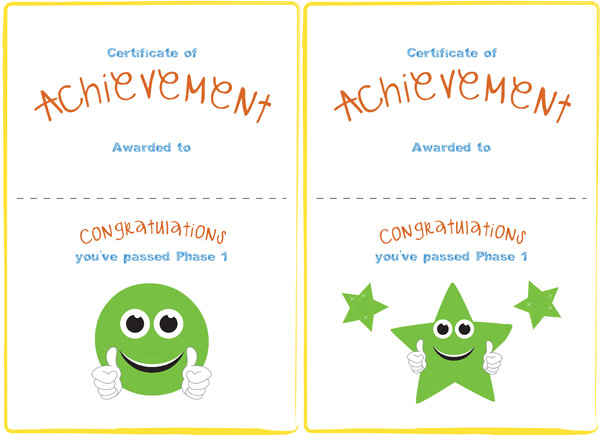 Phase 1 Editable Certificate Free Early Years  Primary Teaching