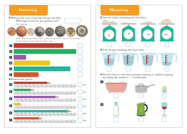 Measuring Maths Worksheets Free Early Years Primary