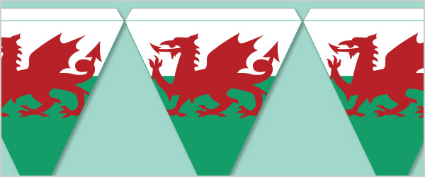 Welsh Flag Bunting Free Early Years  Primary Teaching Resources