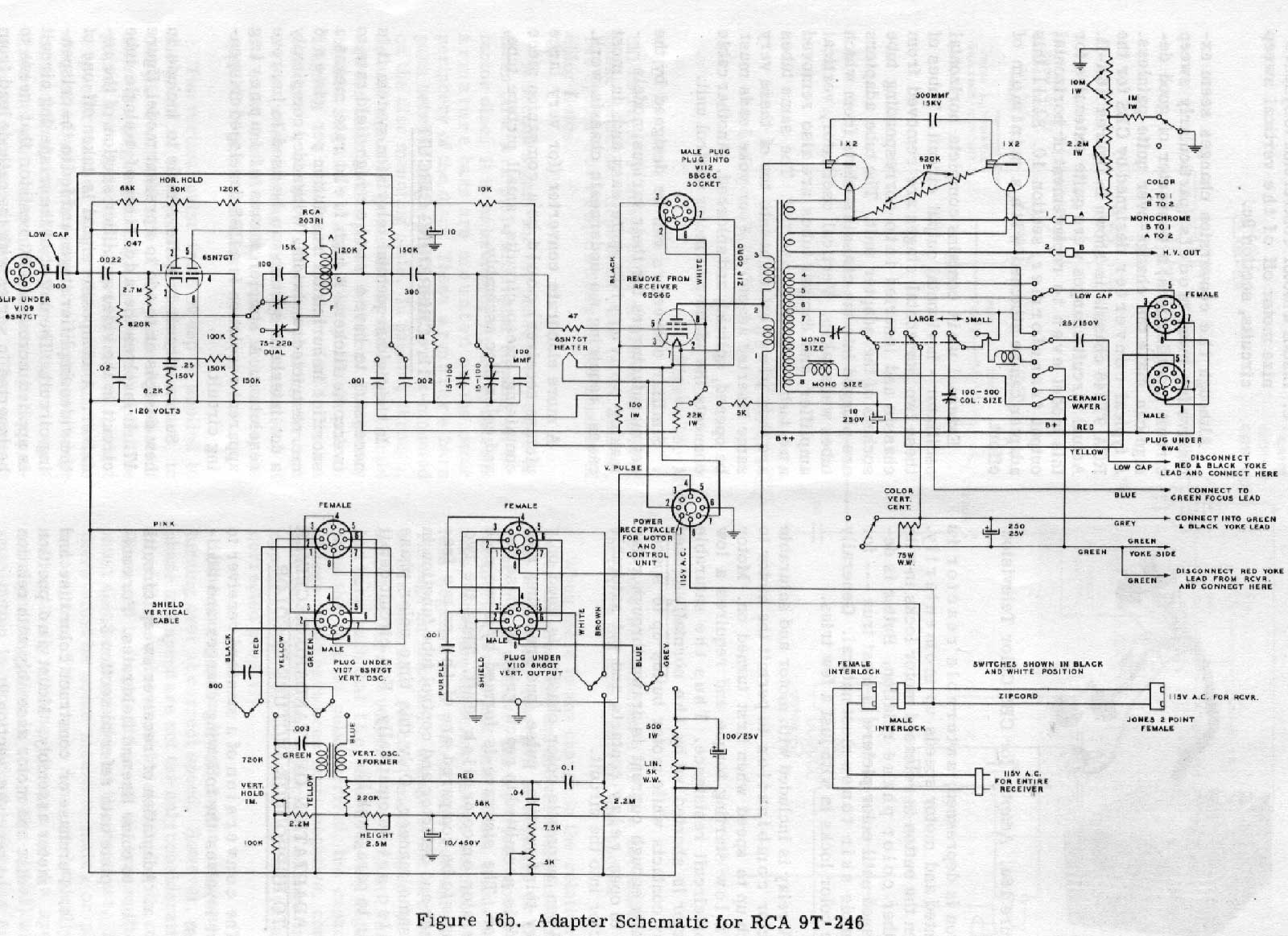 westinghouse tv schematic diagram