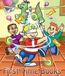 cartoon picture of children hitting pinata