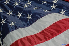 close up of US flag