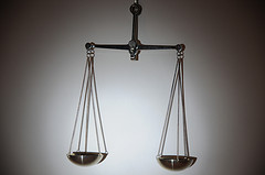 steel balancing scale