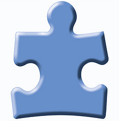 blue puzzle piece representing the autism speaks organization