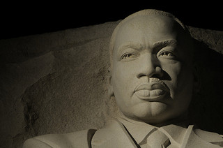 Night portrait of Martin Luther King, Jr. Memorial