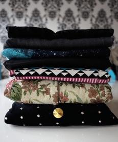 stack of folded clothing