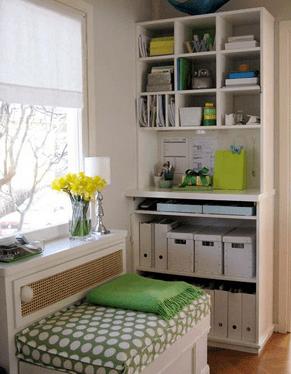 organized shelves and storage