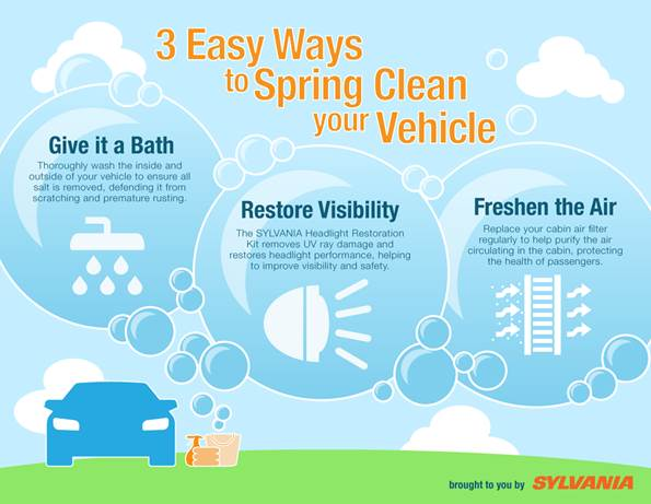 3 ways to clean vehicle infographic