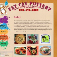 Fat Cat Pottery -  a good example of a custom WordPress theme developed from an HTML website. fatcatpottery.net