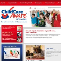 Child Care Aware of Kansas - ks.childcareaware.org - Earthbound hosts this website and helped with development and troubleshooting to bringing this site live.   ks.childcareaware.org