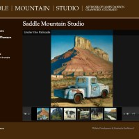 Saddle Mountain Studio - saddlemountainstudio.com - Wordpress site with integrated ecommerce feature, tied to PayPal account - client provided complete design spec and did all data entry for a very affordable site!  saddlemountainstudio.com