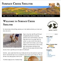 Surface Creek Shelter - surfacecreekshelter.org - A customized wordpress site. surfacecreekshelter.org