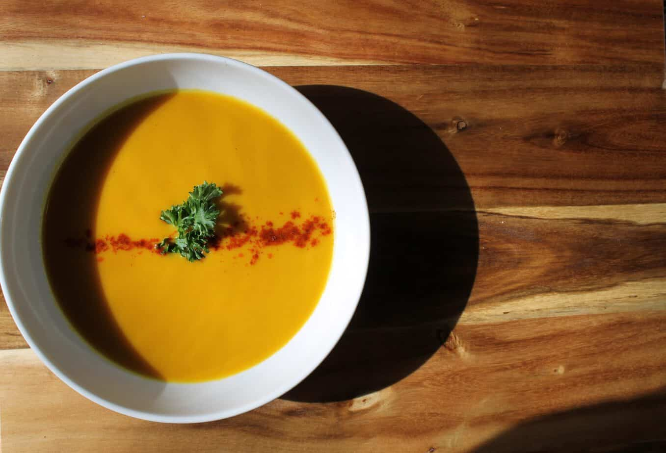 A lightly curried vegetarian squash soup