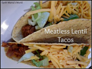 Meatless Vegetarian / Vegan Lentil Tacos