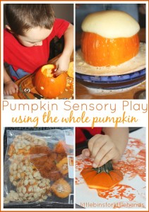 Pumpkin Sensory Play