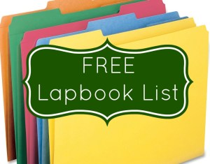 List of FREE Lapbooks!