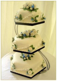 3 tier wedding cake stand - pme e shape 3 tier gold ...