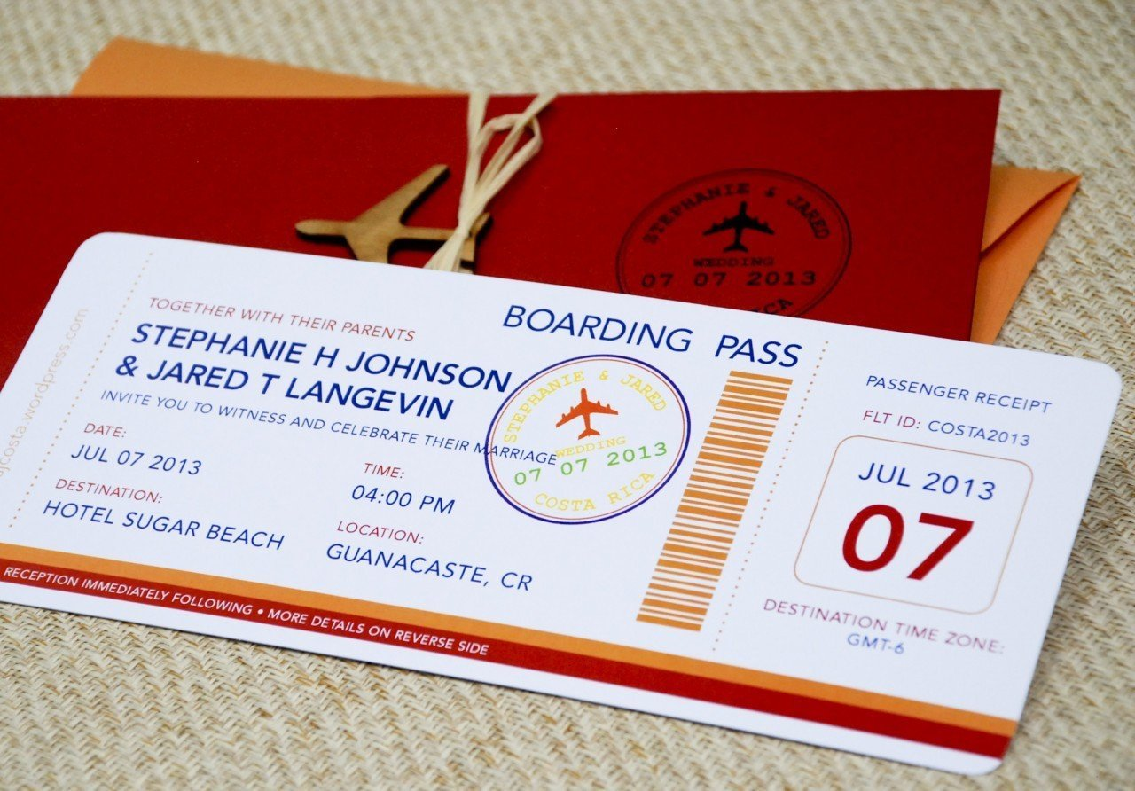 Amazing Boarding Pass Wedding Invitation Template Wedding And Bridal ...